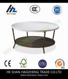 Hzct041 Clarenceのコーヒーテーブルは家具に金属をかぶせる