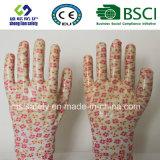Les nitriles ont enduit les gants protecteurs de travail de travail de sûreté de jardin