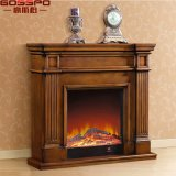 Factory Wholesale Indoor Freestanding Wood Fireplace Mantel (GSP14-001)