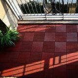 Couvre-tapis carré en caoutchouc réutilisé imperméable à l'eau extérieur en gros d'étage de Brown de couplage