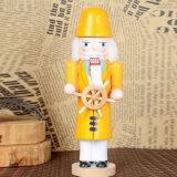 Estatua de tamaño natural del cascanueces de los artes de la decoración de madera de la Navidad para los niños