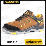 PU/Rubber Outsole Tief-Schnitt-Sicherheits-Schuh mit der Stahlzehe (SN5518)