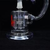 Neue Entwurfs-ehrfürchtige bunte Hand durchgebranntes Borosilicat-Recycler-rauchendes Wasser-Glasrohr mit großer Funktion