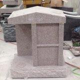 Columbarium кремации 2 гранитов ниши красный для семьи с вазой