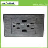 Soquete de potência da C.A. de America do Norte do melhoramento com o carregador da parede do telefone móvel de 2 tomadas de soquete da parede do USB