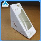 Il contenitore di carta di panino con la finestra aperta, contenitori di carta di pacchetto dell'alimento, elimina le scatole di cartone di carta