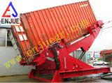 Bascule de levage de conteneur avec le conteneur télescopique de cylindre hydraulique déchargeant le rampe