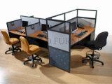 Nouvelle station de travail moderne en bois Table utilisée Bureau en verre de partition (SZ-WST797)