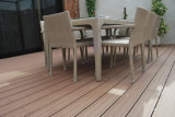 Suelo plástico de madera laminado y barato/resistencia de los compuestos al suelo sólido de la humedad y de las termitas WPC