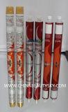 Tubo de aluminio plegable vacío de empaquetado de la crema del colorante de pelo del cosmético
