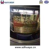 Нержавеющая сталь роскошного искусствоа декоративная вытравила расчетный бланк плиты лифта