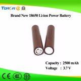 Nachladbare Batterie-Hersteller der Li-Ionenbatterie-18650 3.7V 2500mAh Icr18650