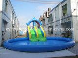 Aufblasbares blaues Wasser-Pool-Plättchen