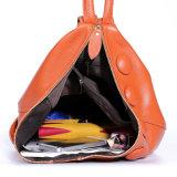 Ocio mochila de cuero auténtico de la Escuela de viaje Bolso mochila de senderismo al aire libre