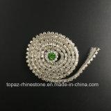 Parte posteriore piana a metà intorno alla striscia adesiva delle perle di ceramica della catena delle perle (TS-039)