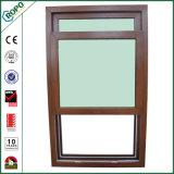 Ventana de PVC de doble acristalamiento, ventana de marco de madera