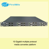 Conversor controlado classe dos media da fibra óptica 10ge do portador