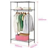 Het hete Rek van de Garderobe van het Frame van het Staal van 3 Rijen van de Verkoop Regelbare voor Slaapkamer