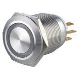 переключатель кнопка электрического автомобиля металла 1no1nc 19mm загоранный кольцом однократно