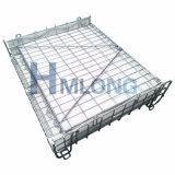 Gaiola Foldable dobrável do armazenamento de fio do metal do dever médio