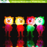 Light-up Flashing Sounding Spiky Puffer Je-Yo Ball Toys