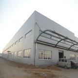 Construcción de acero con marco de acero del taller con el pabellón