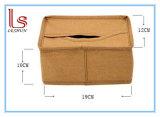 Rectángulo lavado novedad cómoda del tejido del papel de Eco Kraft