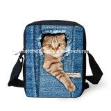 Cute Pet Print Sacs scolaires Denim Girls Enfants Mini Mochila Student Kids Boys School Bag