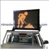 Veículo compacto montado de sinal de tráfego do quadro de mensagens para a gestão do tráfego