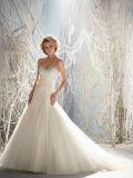 Embroidary отбортовывая платье венчания пляжа Bridal