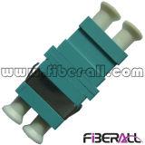 adaptador óptico a dos caras del milímetro LC para el plástico del Aqua de la fibra Om3