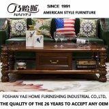 Table à manger ronde en bois massif de conception simple pour salle de séjour à usage domestique avec bonne qualité As839