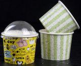 OEM Babeurre jetables de la crème glacée Coupe du papier avec couvercle