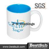 Сублимация покрытий Js Mugs кружки Two-Tone цвета 11oz - свет - голубое B11naa-05