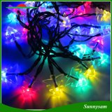 50 LED Solar Powered Árvore de Natal String Light Outdoor Waterproof Colorful Lamp for Home Garden Patio Lawn Party Wedding New Year Holiday Decorações