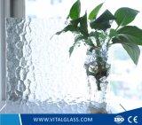 Vidro de flutuador translúcido decorativo do vidro modelado