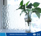 Vidrio de flotador translúcido decorativo del vidrio modelado
