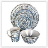 La porcelaine différente de modèle d'utilisation moderne de famille aiment le jeu de dîner 4PCS