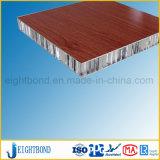 Comitato di alluminio del favo dell'impiallacciatura di legno per la decorazione