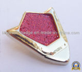 Pin personalizado do Lapel do Glitter do chapeamento de ouro 3D (MJ-PIN-012)