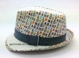쉘 (YGF040)에 인쇄된 직물을%s 가진 중절모 모자