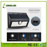 4W 400lm를 가진 신식 LEDs 태양 강화된 무선 방수 운동 측정기 태양 빛 120 도