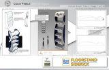 Visualización de cartón directamente de fábrica de chocolates para rack