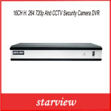 câmara de segurança DVR do CCTV de 16CH H. 264 720p Ahd