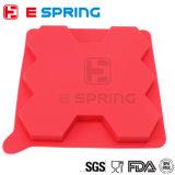 Envase circular del congelador del silicón de la empanada de la prensa 8 del resbalador de la hamburguesa