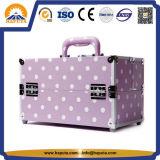 Провод фиолетового цвета кожи поездки макияж случае придает багажного отделения (HB-6301)