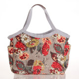 2289 impermeable de PVC floral hombro Patrones bolsa de mano para Lady