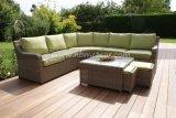 Nuevos muebles del jardín de la rota y del aluminio del PE del diseño, sofá al aire libre de la rota