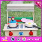 2017 crianças grossista Conjunto de cozinha de madeira brinquedo, Role Play Kids Conjunto de cozinha de madeira Toy, Moda Bebê Conjunto de cozinha de madeira brinquedo W10C177