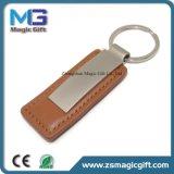 Anello portachiavi di cuoio del metallo personalizzato commerci all'ingrosso